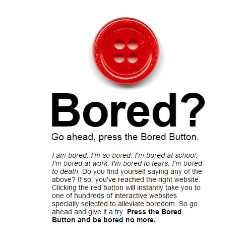 L'homepage di Bored Button